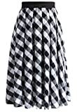 JANAK Women's Cotton Skirt (DN175, White, Medium)