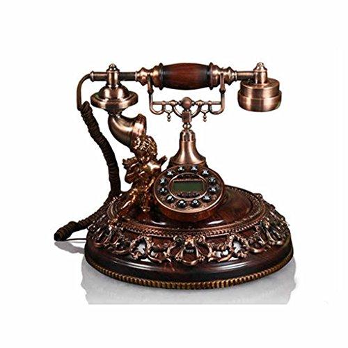 LINGZHIGAN Resin Metal Old Style Retro Festnetz Telefon Telefon Rotating Wired Home Decorations Kreatives Modern Geschenk Schlafzimmer Restaurant Wohnzimmer Einfach und praktisch 28 * 26.5