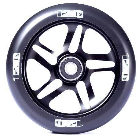 Blunt 120mm Stunt-Scooter Wheel Rolle + ABEC 9 Kugellager + Fantic26 Sticker (Schwarz)