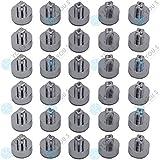 30 x YOU.S Zierstopfen Zierschrauben Ziernieten Chrom Alufelgen Felgen Tuning IC02