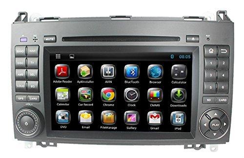 LIKECAR 1024 * 600 Quad Core 16GB Flash 7 Zoll Kapazitive Pure Android 4.4.4 Autoradio Multimedia DVD GPS Navigationssystem für Mercedes Benz A class W169 B class W245 Viano Vito W639 Sprinter W906 W209 W311 W315 mit Audio Dual Zone Blueooth OBD RDS DVR Spiegel Link Lenkrad Hotspot 3G Wifi