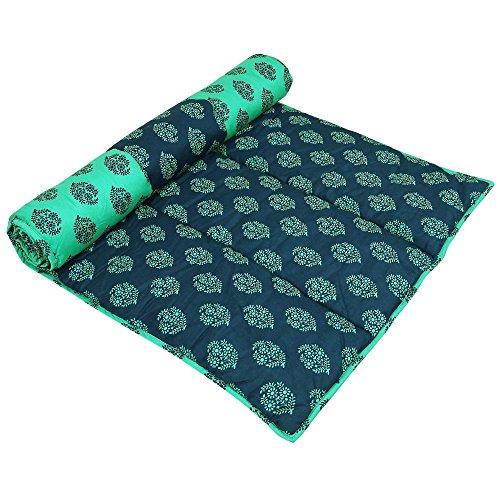 Handmade Yoga Mat Indian Meditation Cushioned coton imprimé conception réversible accessoires d'exercice