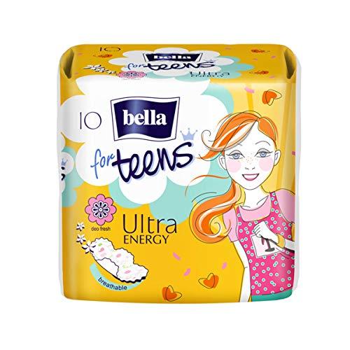 Bella For Teens Ultra Binden Energy: Ultradünne Binden Für Teenager, 6er Pack (6 X 10 Stück), Mit Flügeln + Frischeduft