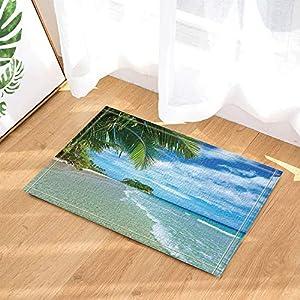 piso con vistas al mar: fuhuaxi Decoración del océano Hermosa Vista al mar con Alfombrilla antirresbalad...
