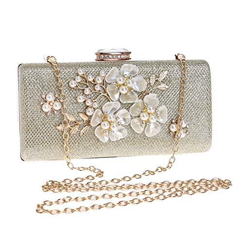 Reinigen, Satin-handtasche (TYYY Damen Satin Kristall Diamante Hochzeit Damen Party Prom Abend Clutch Bag Handtasche)