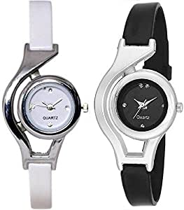 BVM Fashion Analogue Multicolor Dial Girl's & Women's Watch Combo - Glory_155-Wcup B & W