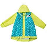 Kinderregenmantel Buchbit Große Kappe Traufe Regenbekleidung Kinder Kinderwasserfest Schöner Poncho (Farbe : Green, größe : M)