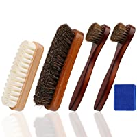 Shoe Shine Brush,Suede nubuck brush,Shoe Dauber,Soft Horsehair Bristles for Shoes, Leather Cloth, Bags,Perfect Gift Idea for Men Women