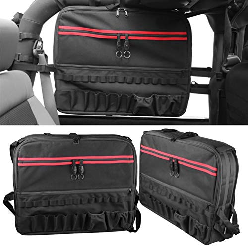 Aufbewahrungstasche,Multi-Pockets Storage Saddlebag,Roll Bar Organizers Cargo Bag Saddlebag for 1987-2018 J-eep Wrangler Unlimited JKU JK TJ LJ YJ 2Tür ( 1000D oxford cloth, 1-PCS) - Unlimited Wrangler Jeep Sport