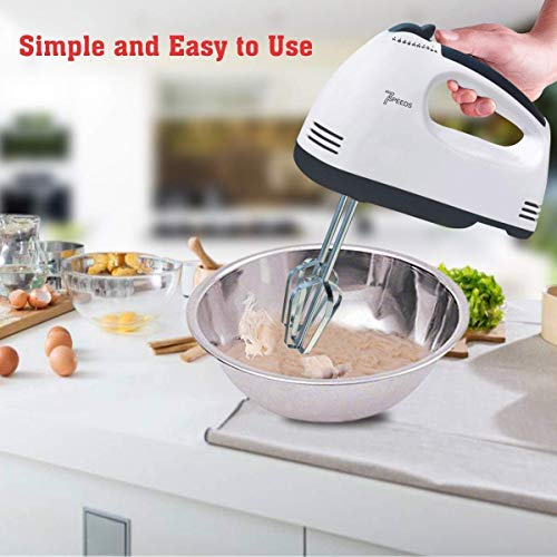 Buyerzone Hand Mixer with 7 Speed Control & Detachable Stainless-Steel Beater &...