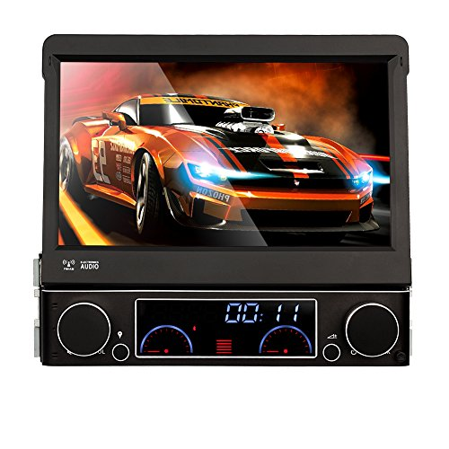 NAVISKAUTO Universal 1 Din Car DVD Player 7`` Touchscreen New Framework Head Unit Windows CE GPS Sat Nav Support Offline Navigation Bluetooth/RDS/ Steering Wheel Control Subwoofer Include Remote Contro