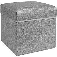 Preisvergleich für Lagerung Hocker LXF Speicher-Schemel-faltender Speicher-Ottoman-Kasten-Spielzeug-Kasten und Schemel 32 * 32 * 31cm (Farbe : Grau)