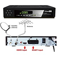 UK FULL HD COMBO 1080p Freeview HD + FreeSAT HD Satellite Receiver Tuner + RECORDER For Digital TV Set Top SKY Box Digi Box Terrestrial SCART + HDMI & Scart Connections