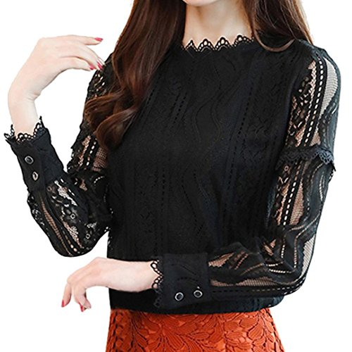 Sale Clearance Women's Blouse Sunday77 Tops Daily Lace Plus Size Ruffles V-Neck Pleated Tunic Solid Long Sleeve Ladies Loose T Shirts Casual Shirt for Ladies