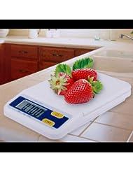 unory (TM) 2kg x 0,1G multifunción electrónico Digital báscula de cocina dieta alimentos compacto Escala de pesaje de peso