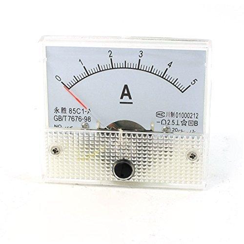 Carcasa transparente DC 0-5A amperímetro analógico 85c1 - A