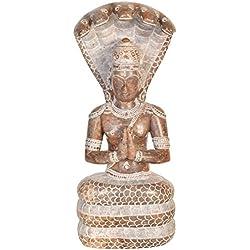 Patanjali–el fundador de la yoga sistema–piedra Estatua (fabricado en Mahabalipuram)