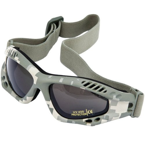 Mil-Tec Commando Brille Air Pro at-digital smoke