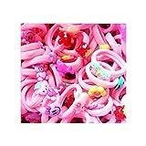 GROOMY 10 Unidades/Set Niños bebés niñas Pulido plástico Pinza de Pelo de Dibujos Animados Lindo Animal Floral Banda de Goma elástica sostenedor de la Cola de Caballo Partido Horquilla Barrette