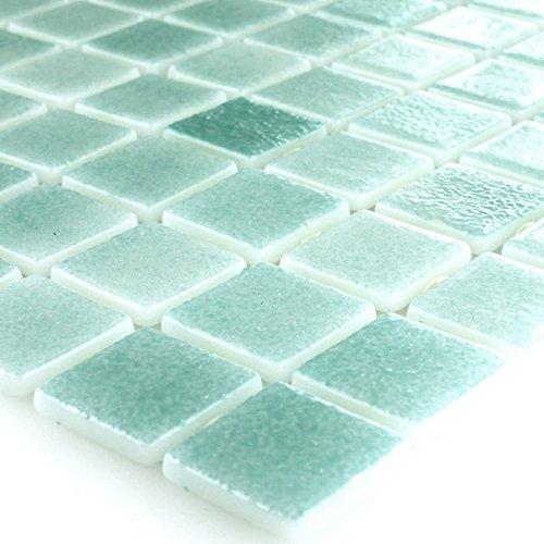 Glas Schwimmbad Pool Mosaik Fliesen Türkis Mix -
