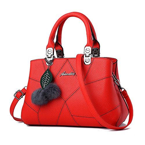 Barwell Damen Handtasche lässig Umhängetasche Taschen Frauen PU-Leder Schultertasche (Tasche Brieftasche)