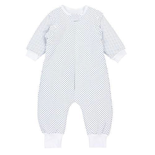 TupTam Baby Unisex Schlafsack mit Beinen und Ärmel Winter, Farbe: Sterne Blau/Weiß, Größe: 104-110
