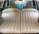 Weastion Neue SUV Reise Bett Universal Auto Luftmatratze PVC + Beflockung Auto Aufblasbare Bett Geländewagen Bett Outdoor Schlafmatte Reise Bett Rückseite des Autos Schlafsack Doppel Braun