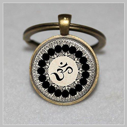 Om Symbol Schlüsselanhänger, Buddhismus, Zen, Meditation, Mandala Kunst  Einzigartige Schlüsselanhänger Key Ring Geschenk  Everyday Schlüsselanhänger Key kette