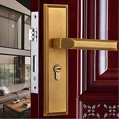 Xh6001 Cobre Bloqueo De La Palanca De Seguridad De Entrada Con Llave La Puerta De Metal Privacidad De Embutir + Tecla