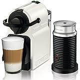 Nespresso Inissia Milk XN 1011, cafetera de cápsulas, 19 bares, Krups,  compacta, apagado automático, color white