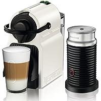 Nespresso Krups Inissia Milk XN 1011-Cafetera de cápsulas, 19 bares, compacta, apagado automático, color White
