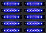 24/7Auto L0051 Luces Laterales para Camiones, Trailers, Caravanas LED 24 V, Azul, 10 Piezas