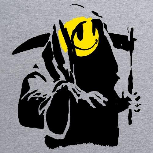 Banksy Street Reaper T-Shirt, Damen Grau Meliert