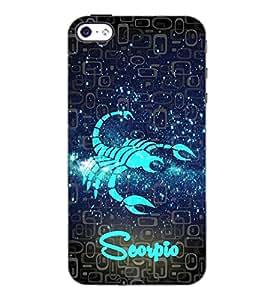 PrintDhaba Zodiac Scorpio D-2803 Back Case Cover for APPLE IPHONE 5 (Multi-Coloured)