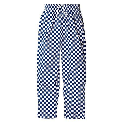 Chef Works a043-xl Easy Fit Hose Big, Größe, X-Large, Kariert, Baumwolle, 106,7cm 112cm, blau