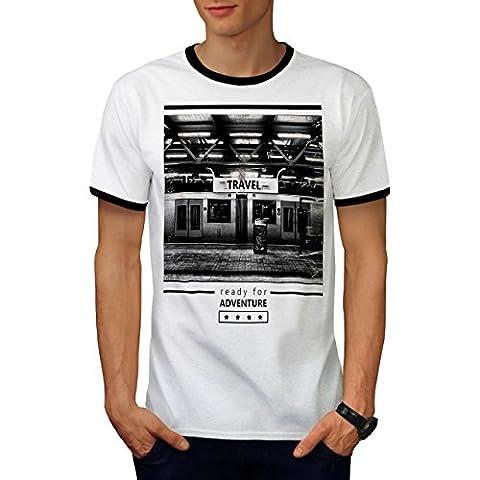 Reise Abenteuer Mode Reise Zeit Herren M Ringer T-shirt | Wellcoda (Einfache Abenteuer Zeit Kostüme)