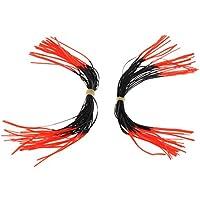 NON MagiDeal 2 Unidades de Silenciador de Cuerda de Archero Accesorio de Deportes Multiusos - Rojo + negro