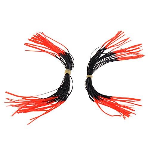 Homyl 1 Paar Bogenschießen Sehne Geräuschdämpfer Bogen String Schalldämpfer , zwei Farbwahl - Rot + Schwarz (Schalldämpfer Bogen,)