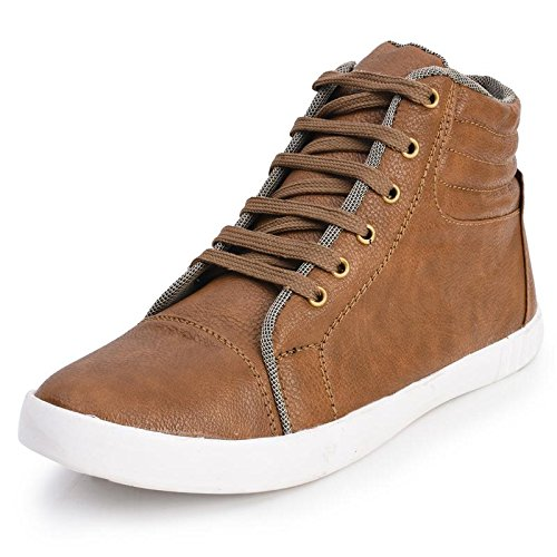Foot n Style Men's Brown Synthetic Leather High Ankle Casual Shoes  available at amazon for Rs.494