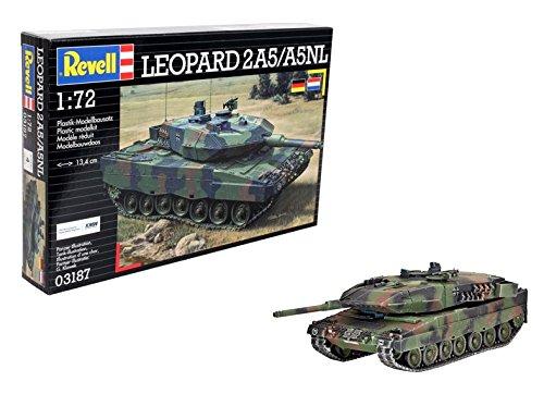 Revell Modellbausatz Panzer 1:72 - Leopard 2A5 / A5NL im Maßstab 1:72, Level 4, originalgetreue Nachbildung mit vielen Details, 03187 - Leopard 4