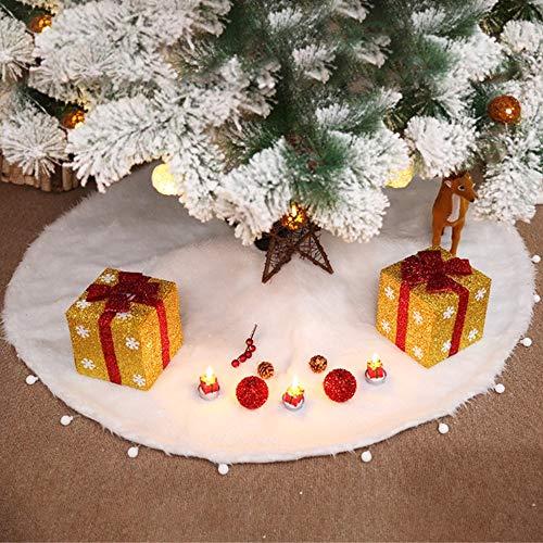Albero Di Natale Bianco 90 Cm.Copri Base Per Albero Di Natale Decoro Con Stelle Di Natale 132cm