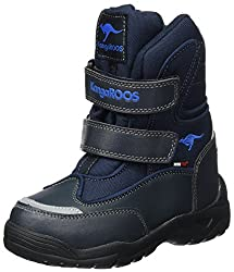 KangaROOS Unisex-Kinder Lenoxx II Schneestiefel, Blau (Dk Navy/Royal Blue), 35 EU