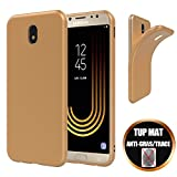 Coque Samsung Galaxy J5 2017 Ultra Slim Mince Luxe Premium Antichoc Case Cover Housse Etui de Protection - Doré Or