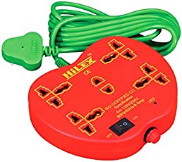 Hilex 5+1 apple shape Extension cord with 2.75 Meter wire (3 Pin and 2 Pin)