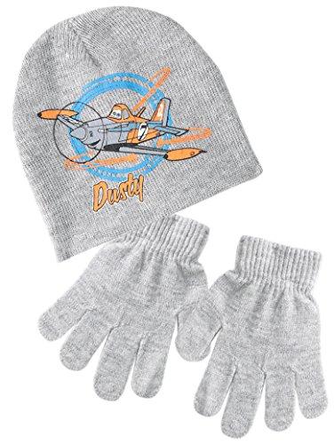 Bonnet et gants enfant garçon Dusty Planes Gris T52