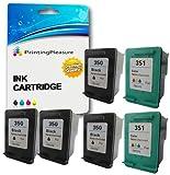 Printing Pleasure 6 XL Druckerpatronen für HP Deskjet D4200 D4245 D4260 D4360 D5360 D5363 D4368, OfficeJet J5700 J5730 J5780 J5783 J5785 J5790 J6400 J6410 J6415 J6450 J6480 J7500, Photosmart C4200 C4205 C4210 C4240 C4250 C4270 C4272 C4275 C4280 C4283 C4285 C4340 C4342 C4343 C4344 C4345 C4348 C4380 C4383 C4390 C4440 C4450 C4472 C4473 C4480 C4485 C4580 C4585 C4599 C5200 C5240 C5250 C5270 C5275 C5280 C5290 C5293 | kompatibel zu HP 350XL (CB336EE) & HP 351XL (CB338EE)