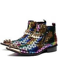 b2132745 Mr.Zhang's Art Home Men's shoes Botines Coloridos Puntiagudos para Hombres,  Transpirables, Botas