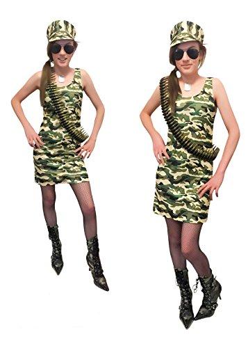 t Mädchen Kostüm Kostüm Camo Army Outfit Frauen (Soldat Kostüme Frauen)
