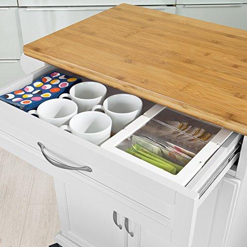 Gewürzregal Kücheninsel ~ sobuy u00ae luxus küchenwagen mit bambustischplatte
