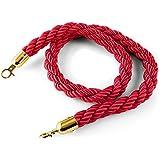 oneConcept Golden Cord Cuerda de ampliación para limitador de paso oro/rojo (diseñado para poste separador oneConcept Silver Gate)